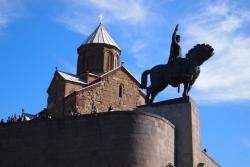 Dzień 2. Tbilisi - Katedra Metechi.